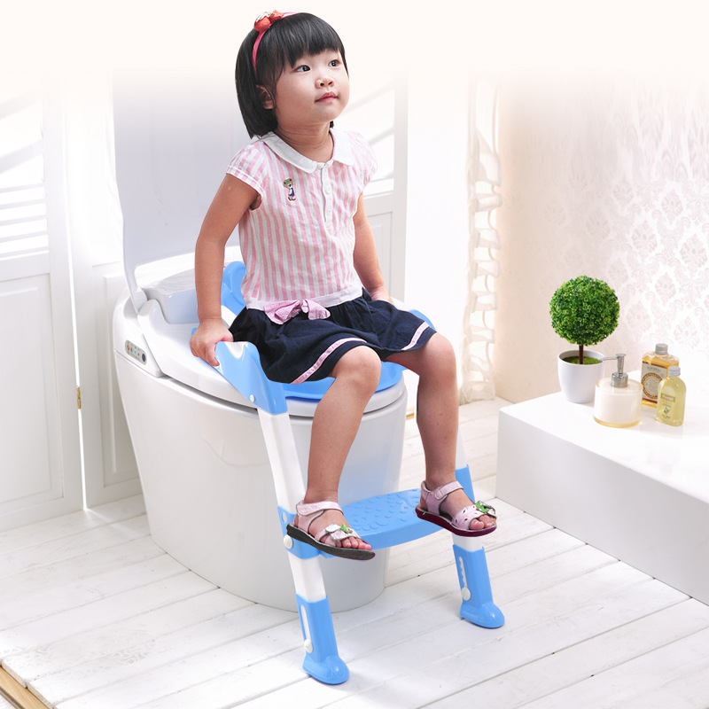 Portable Baby Toilet Ladder Training Toilet Pink/Blue Baby Child Boy And Girl Seat Toilet Chair Ladder<br>