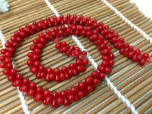 1 strand 4x8mm Sea Bamboo Red Coral Peanut shape Loose Beads Semi Precious stone bone beads DIY Jewelry Making(China)