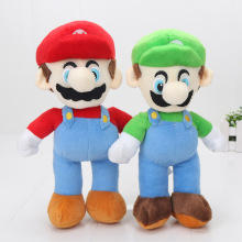 2pcs/set 25cm Super Mario BrosStand MARIO LUIGI Plush toys Doll Stuffed Toy(China)