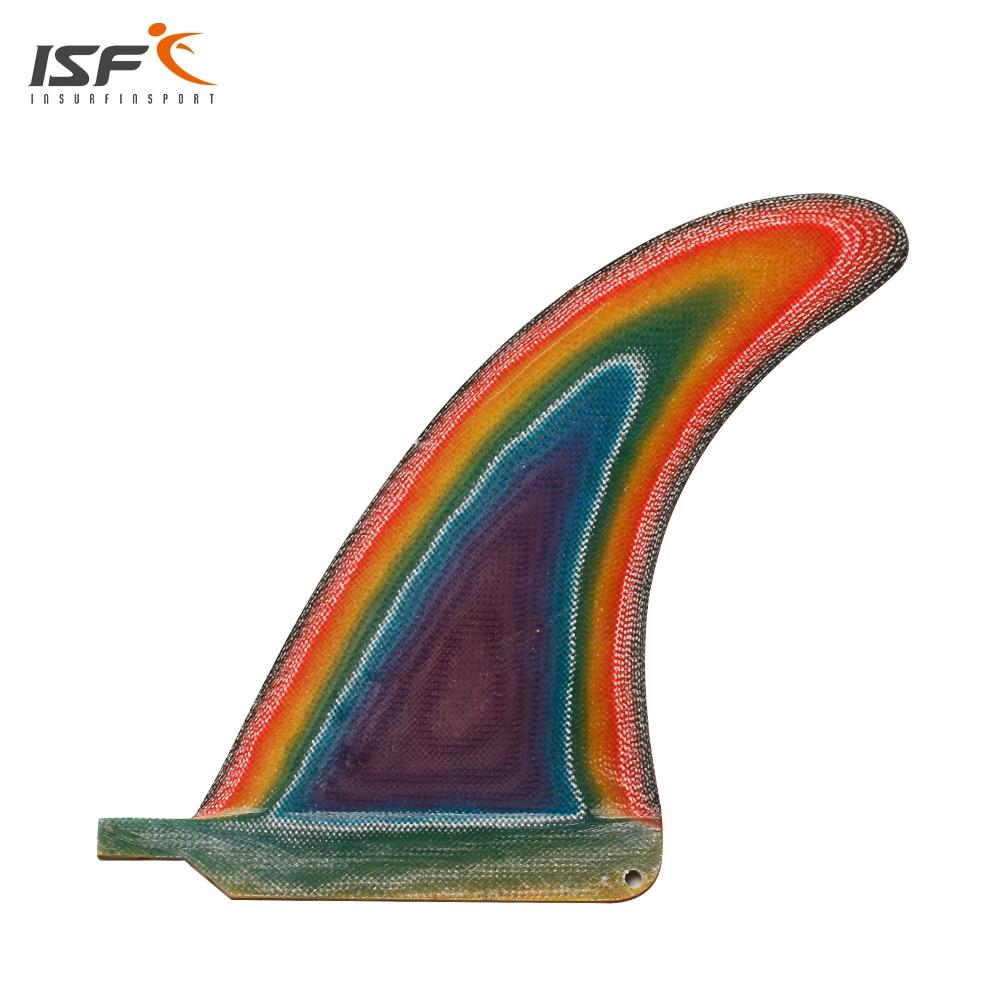 Free shipping 6-10 inch fiberglass color longboard fin quilhas de prancha de surf fin paddle board fin sup fin 1 PCS<br>