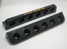 Free Shipping 1set/lot black Billiard Pool 6 Stick Plastic Cue Rack Cushion holder NEW snooker table(China)