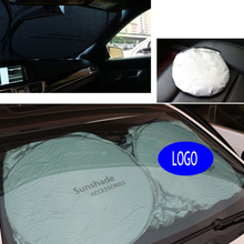 150cm*70cm Auto Front Rear Window Sun Shade Car Windshield Visor Cover Block Sunshade Foldable cover For BMW Car styling