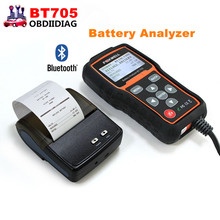 FOXWELL BT705 BT-705 Battery Analyzer Check Battery Health Detect Faults of Starting & Charging System with Bluetooth Printer(China)