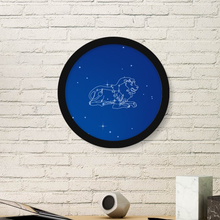 Leo Cancer Pisces Aquarius Taurus Constellation Zodiac Round Picture Frame Art Prints of Paintings Home Wall Decal Gift(China)