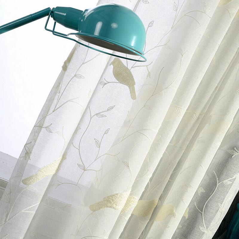 Bird design curtains