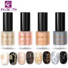 KADS New Arrival 9.5ML Nail Stamping Polish For Nail Stamping Art 4PCS Two In One Elegance Nail Polish For Nail Art Design