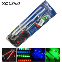 1 Set Quality Mountain Bike Bicycle Light 14 Led Decorative Light Safety Cycling Frame Light 3 Mode Bicycle Led Warning Light