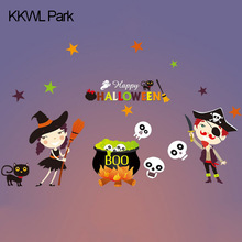 Cute Factory Outlets Ghost  Halloween Electrostatic Stickers, Window Bars, Shopping Malls, Halloween Decoration Funny Style