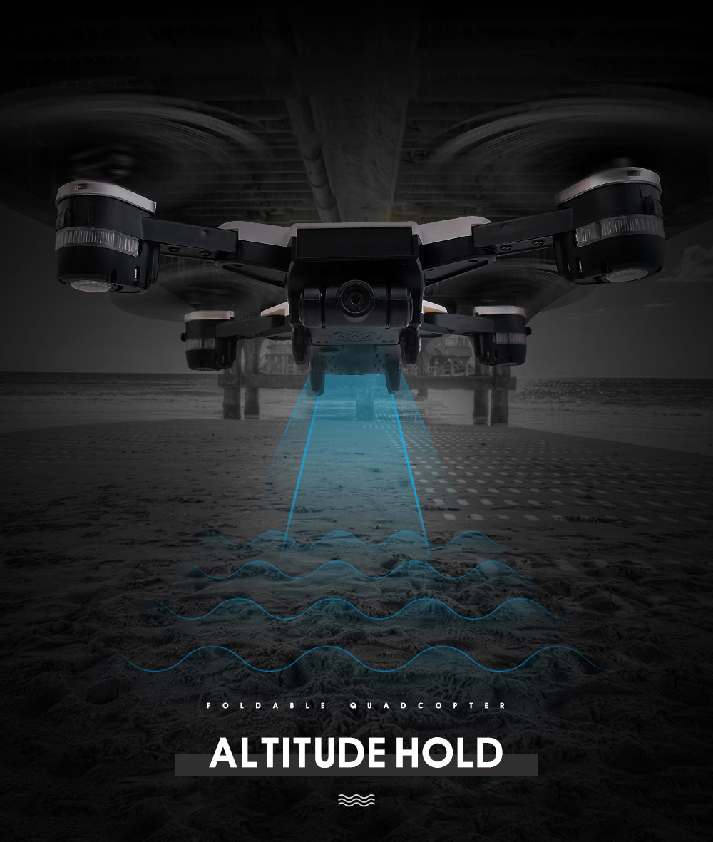 6.New 2.4Ghz 4ch foldable FPV rc drone with 2MP wide angle wifi camera