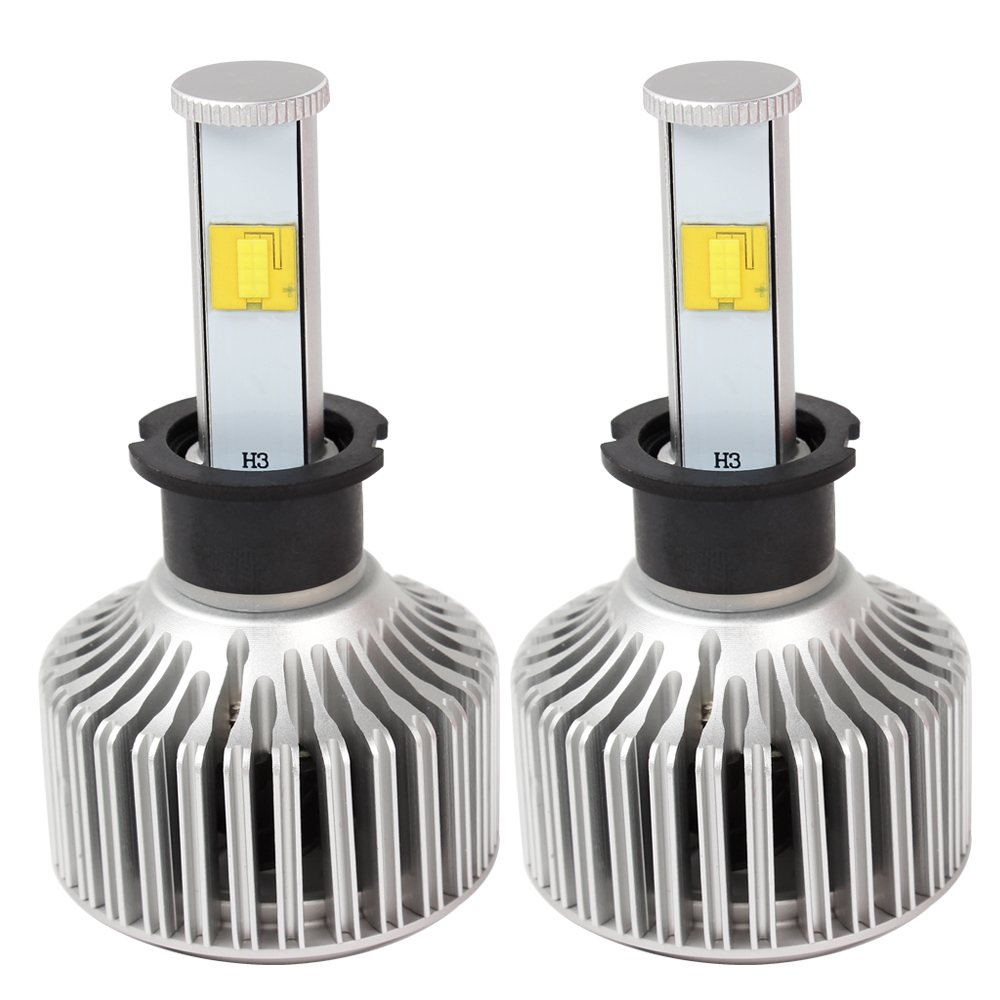 Version of X7 LED Light Source Headlight Super Bright 6000K 3600LM H3 Car Styling 40W/Each Bulb All-in-one #HP<br>
