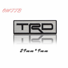 3D Matel TRD Car Stickers for Toyota TRD RAV4 Corolla Steering Wheel Sticker Emblem Refit Badge car Sticker Car Styling(China)
