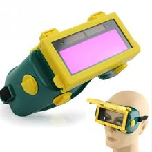 1pc High clear view filter Solar Auto Darkening LCD Welding Goggles,Automatic ON/OFF,Protable Electrical tools
