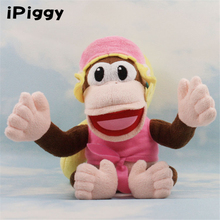 "7"" 18CM Diddy Kong's girlfriend Super Mario Plush Dixie Kong Soft Toy Stuffed Animal(China)"