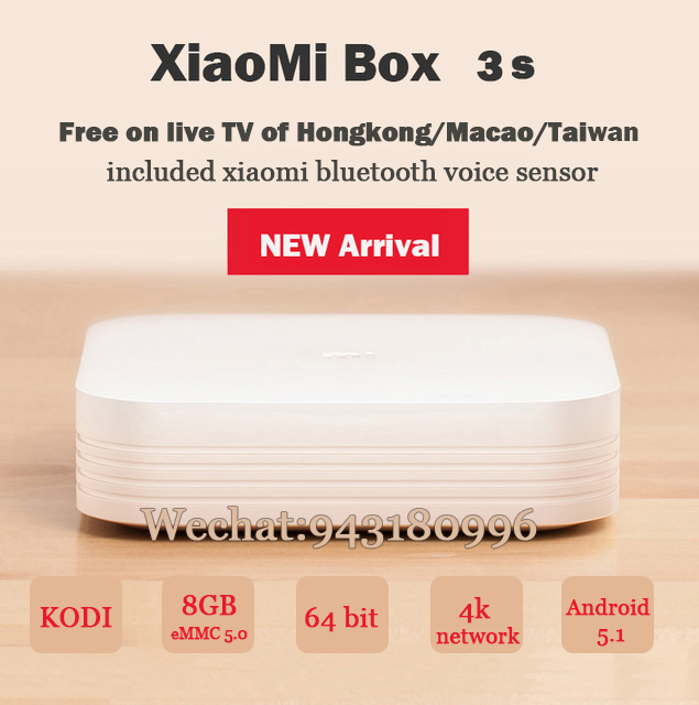 2016 New Arrival BOX 3 Plus Four Core Android 5.1 Wireless wifi connect HD 64 bit with China and Internal channels<br><br>Aliexpress