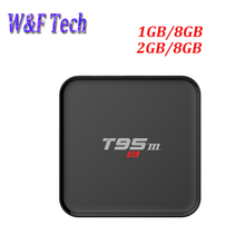 2016 New T95M Smart tv box Android 6.0 Amlogic S905x quad core 2GB/8GB BT4.0 2.4G wifi KD 16.0 android media player(China)