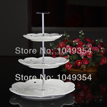 3 tiers cupcakes stands cake stands for wedding and party decorativer trays (100 sets)(China)