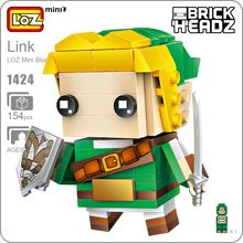 LOZ Blocks Super Hero Figure Action Japanese Games Mini Building Bricks Educational DIY Plastic Assembly Toy Hobbies 1424 - ideas Store store