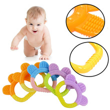 Baby Dental Care Bear's-paw Shape Silicone Baby Teether Baby Teething Toys Food Grade Strengthening Tooth Training DIY Supplies(China)