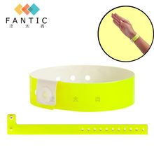 100pcs Wristbands - L-Shape Vinyl (Plastic) Wristband, yellow festival wristband, plain color event wristband