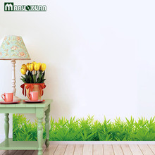 Green Grass Play Crural Line The Bedroom Living Room Cabinet Decorative Wall Stickers Porch Window