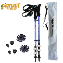 Ultra-light Carbon Fiber Walking Sticks Trekking Poles Nordic Walking Cane Shooting Telescopic Sticks Alpenstocks with bag