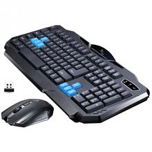 2.4GHz Wireless Keyboard Mouse Combo Set Wireless Suit Waterproof Keyboard +1600DPI Optical Gaming Mouse For Office For PC(China)