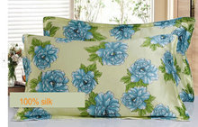 114073011 silk double side  printed Silk Pillowcase size 74cm*48cm+3cm good quality  pillow cover