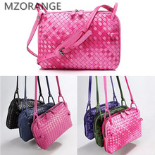 Buy MZORANGE 2018 New sheepskin Gradual change genuine leather Lady Small Woven bag Fashion design Mini women Shoulder Crossbody Bag for $56.98 in AliExpress store