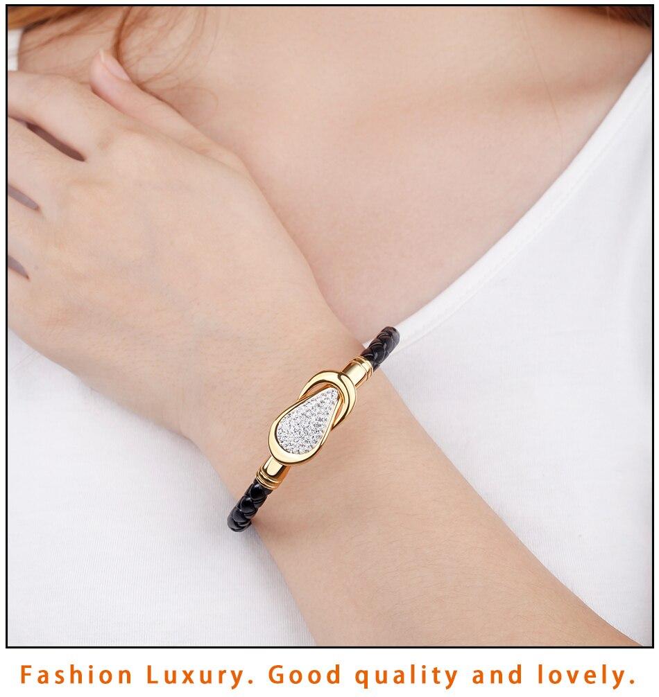 Women Leather Bracelet PU (8)