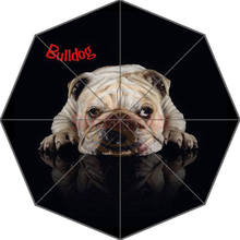 Hot Custom Bulldog Best Nice Cool Design Portable Fashion Stylish Useful Foldable Umbrella Good Gift Idea!Free Shipping U9876544