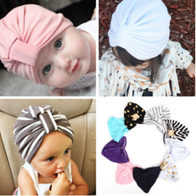 1Pc Baby Girls Jersey Turban Hat Child Hat Maverick Baby Kids Turban Beanie Hat