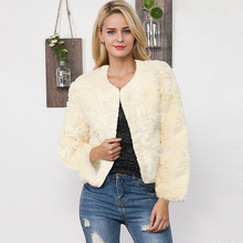 S-3XL Faux Fur Mink Coats Women Winter Fur Coat Elegant Thick Warm Outerwear Fake Fur Jacket Chaquetas Mujer Plus Size(China)