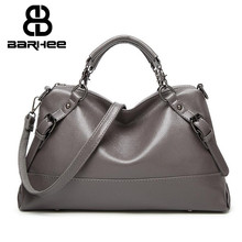 2017 New List Female Crossbody Bag Leather Handbags Hobo Tote Women Messenger Bags Ladies Fashion Leather Portable Shoulder Bag(China)