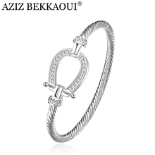 Drop shipping Fashion Silver Rhinestone Wrap Cuff Bracelets Horseshoe Bangles For Women Brand Designer Jewelry Valentine Gift