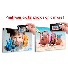 Custom Large Prints On Canvas Print Your Digital Photos or Pictures For Home Decoration Wall Art(China)