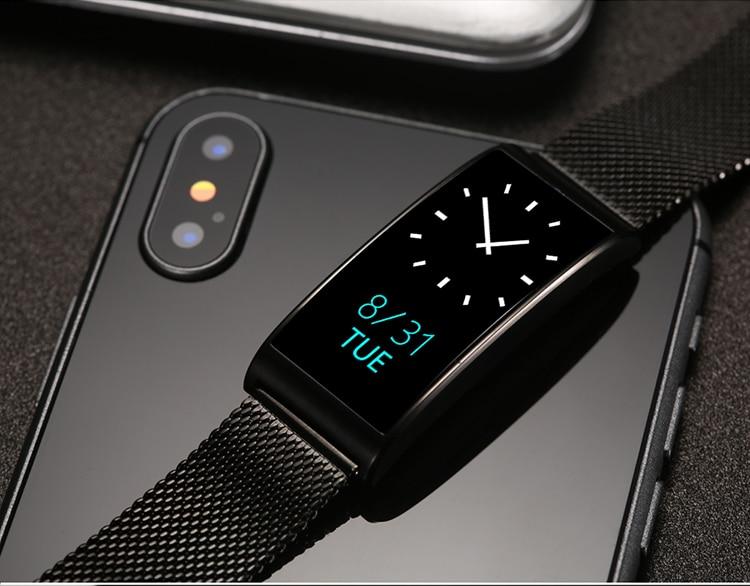 Microwear X3 IP68 Waterproof smart fitness bracelet pedometer blood pressure smart wristband Android iOS fitness tracker 4