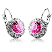 New Fashion Style Crystal Earrings Stud Earring Women Jewelry Zircon Multiple Color Ear Clip Gift for Girl Ear Stud Bling CJC60