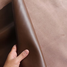 Dark brown smooth head layer cowhide leather handmade DIY leather wallet leather imported leather thickness of 1.4 mm