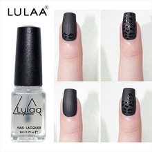 LULAA New Gel Frosted 6ml Nail Polish Magic Super Matte Transparent Nails Art Surface Oil Nail Polish High Quality Made Polish(China)