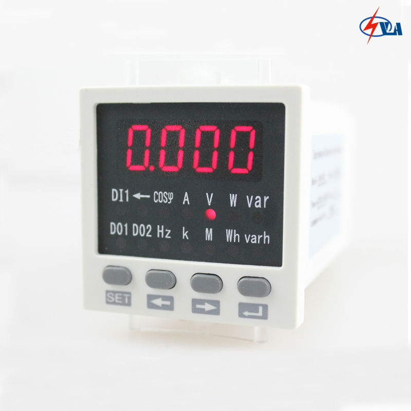 D81 size 48*48mm AC single phase  multifunction meter with LED display <br><br>Aliexpress