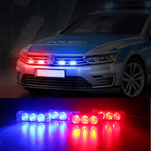 Blue / Red / Yellow White Car Truck LED Strobe Flash Warning Emergency Front Bumper Grille Driving Light Bar Police Firefighter