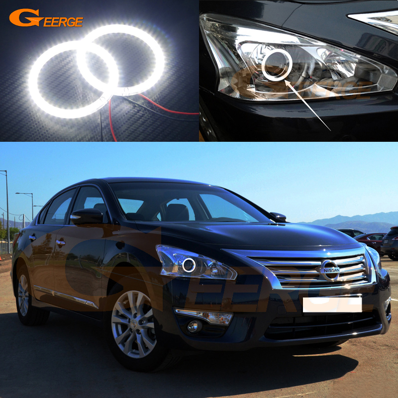 For Nissan Teana L33 Altima 2013 2014 2015 Excellent Angel Eyes Ultra bright illumination smd led Angel Eyes Halo Ring kit<br>