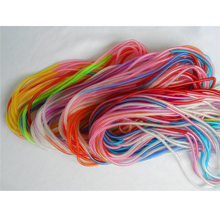 100pcs/lot HOT Fashion Transparent Gradient Color Long Slim Thin Telephone Wire Hairband Hair Tie Bracelets(China)