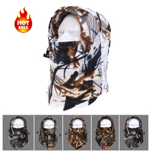 Camo Camouflage Warm Neck Fleece Balaclava Motorcycle Hood Wind Winter Hat Snowboard Full Face Mask Beanies