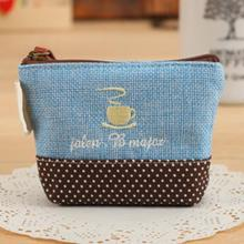 Practical Small Wallets Canvas Coin Handbag Girls Mini Coin Purses Retro Classic Coin Wallet Case With Zipper