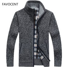 2019 Autumn Winter Men's SweaterCoat Faux Fur 울 Sweater 블루종 Men Zipper 니트 두꺼운 Coat Warm Casual 니트는 늘어남도 M-3XL(China)