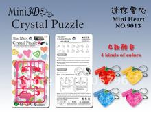 DIY TOY MINI 3D Crystal Puzzle (heart) Educational toy(China)