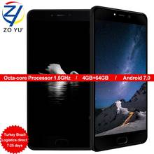Leagoo T5 Smartphone Android 7.0 Mobilephone MTK6750T Dual Back camera 13.0M Octa core 5.5 HD 4G + 64G Fingerprint ID Cell phone(China)