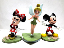 Factory Price 3pcs/set New Cut Tinkerbell Mickey Mouse Minnie Mouse PVC Figure