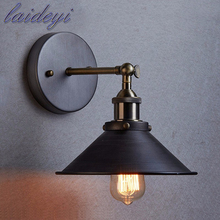 Hotsell Plated Industrial Wall Lamp E27 Base Retro Loft LED Wall Light Lamparas Stair Bathroom Iron Wall Sconce Abajur Luminaria